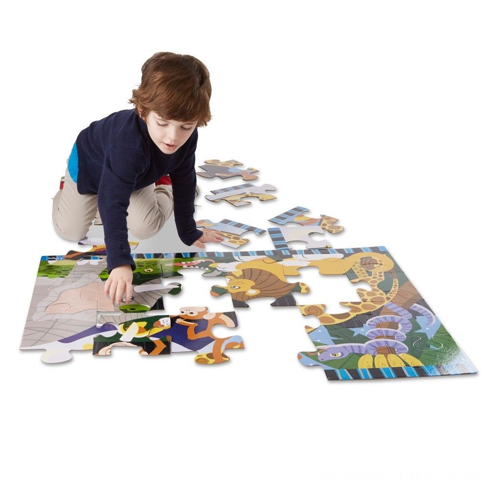 Melissa And Doug Safari Social Jumbo Floor Puzzle 24pc Deal