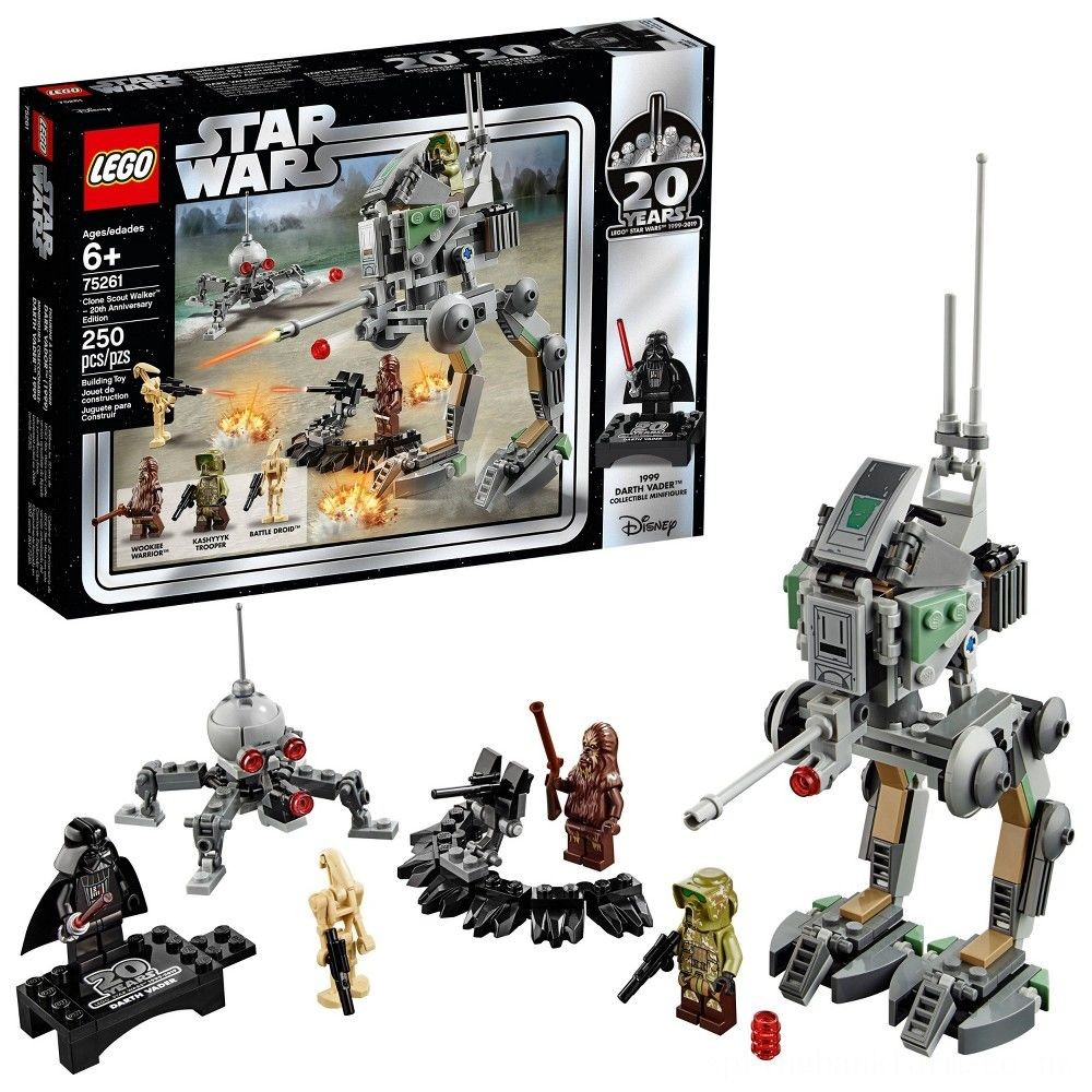 Black Friday 2020 LEGO Star Wars Clone Scout Walker - 20th Anniversary Edition 75261 Deal
