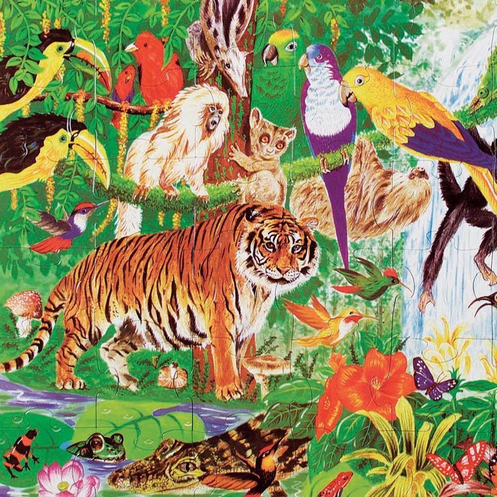 Melissa And Doug Rainforest Floor Puzzle 48pc Deal