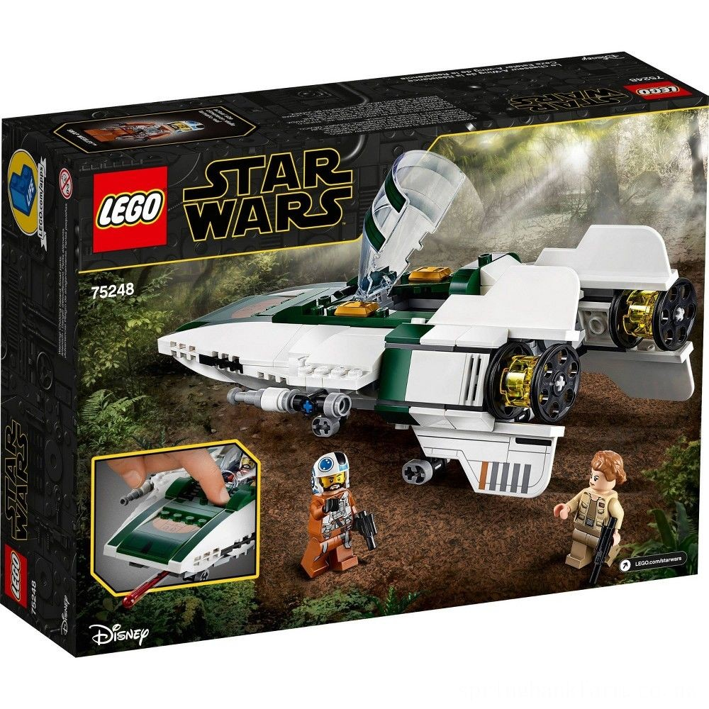 LEGO Star Wars: The Rise of Skywalker Resistance A-Wing Starfighter 75248 Advanced Collectible Starship Model Building Kit 269pc Deal