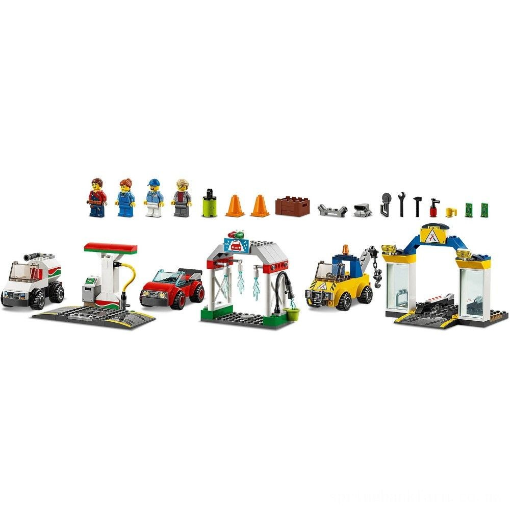 LEGO City Garage Center 60232 Building Kit for Kids 4+ with Toy Vehicle 234pc Deal