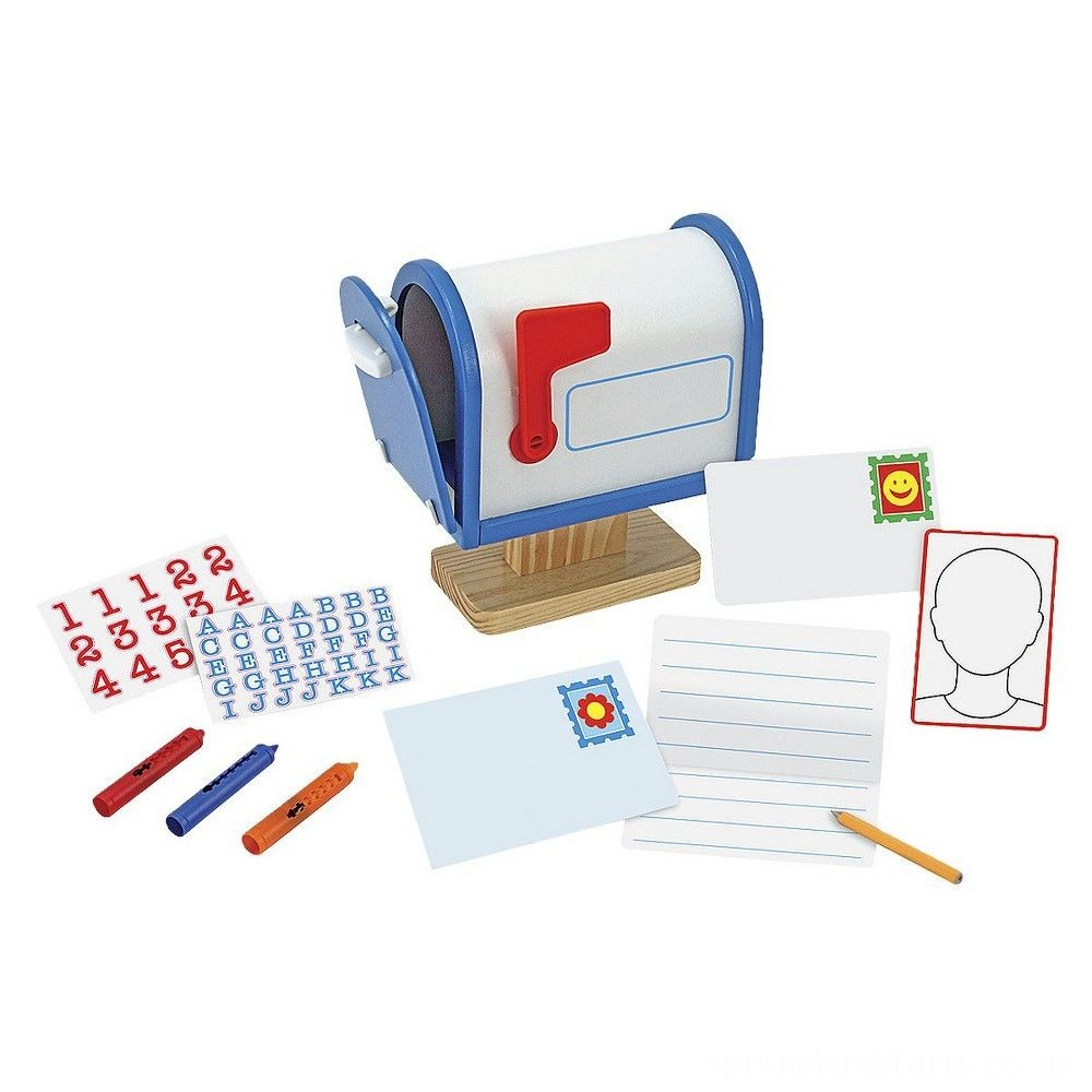 Melissa & Doug My Own Wooden Mailbox Activity Set and Educational Toy Deal