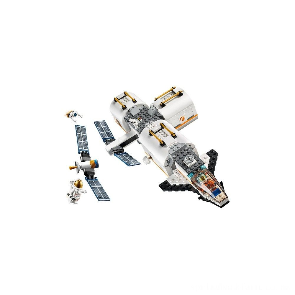 LEGO City Space Lunar Space Station 60227 Space Station Building Set with Toy Shuttle Deal