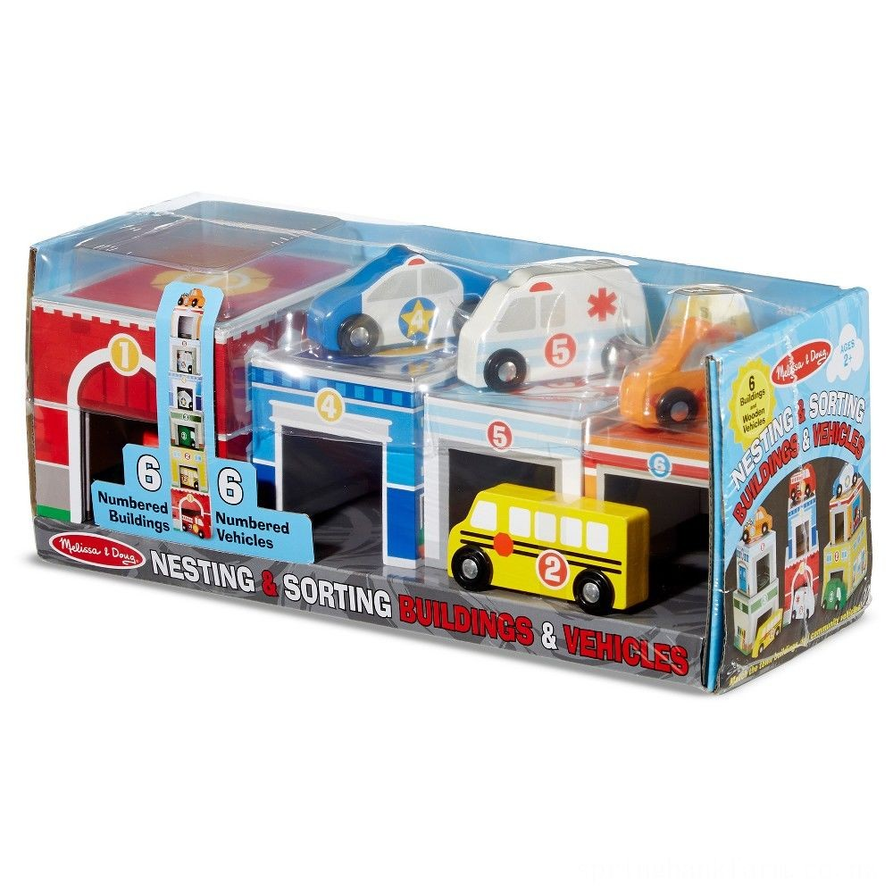 Melissa & Doug Nesting & Sorting Toys - Buildings & Vehicles Deal
