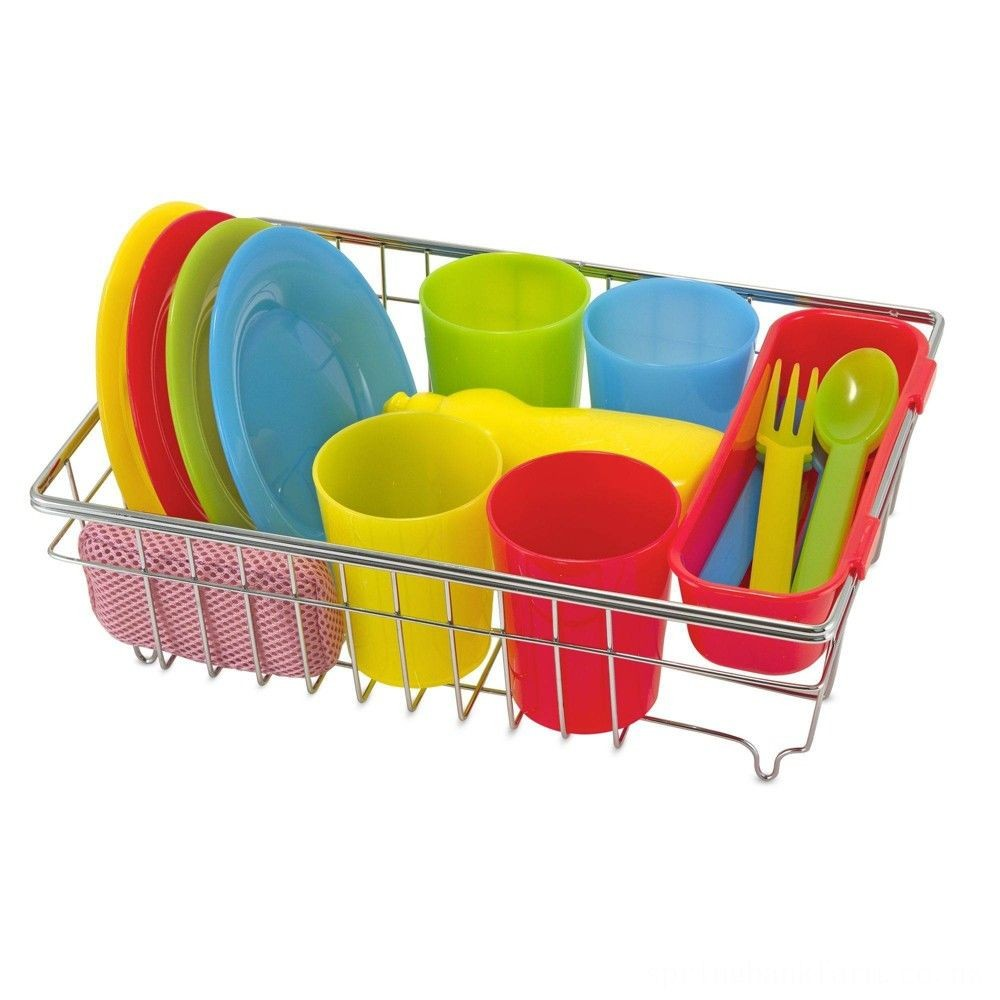 Melissa & Doug Let's Play House Wash and Dry Dish Set (24pc) Deal