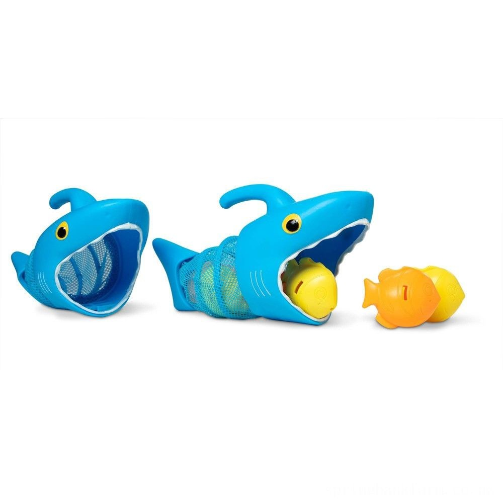 Melissa & Doug Sunny Patch Spark Shark Fish Hunt Pool Game With 2 Nets and 6 Fish to Catch Deal