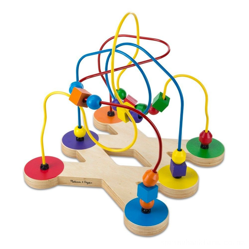 Melissa & Doug Classic Bead Maze - Wooden Educational Toy Deal