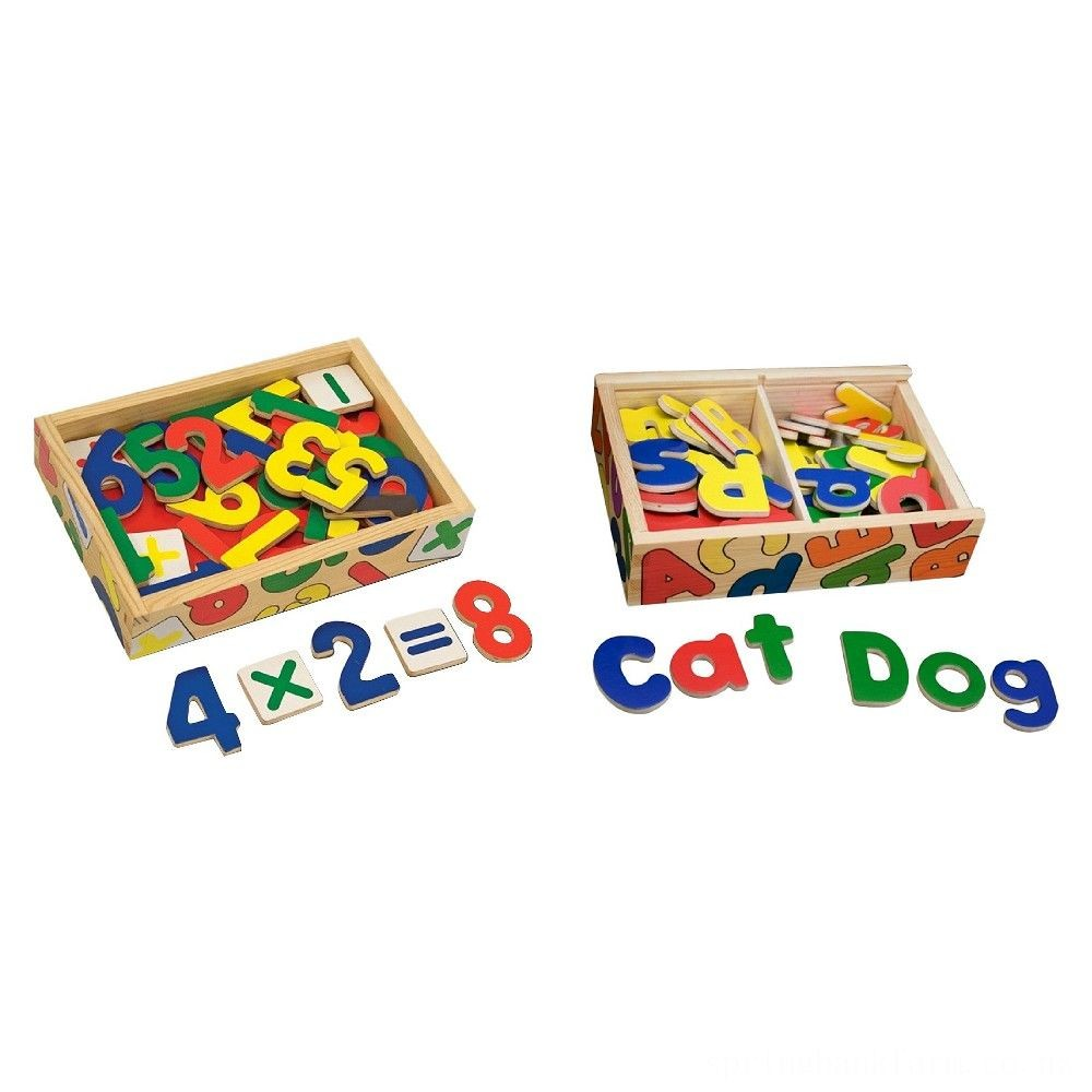 Melissa & Doug Deluxe Magnetic Letters and Numbers Set With 89 Wooden Magnets Deal