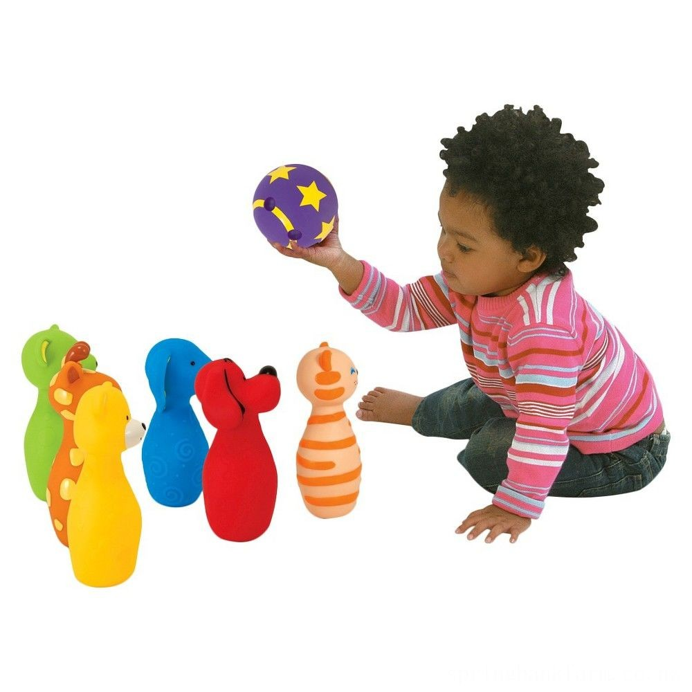 Melissa & Doug K's Kids Bowling Friends Play Set and Game With 6 Pins and Convenient Carrying Case Deal