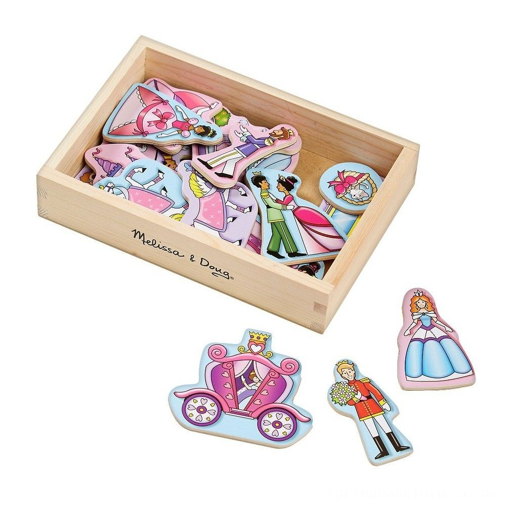 Melissa & Doug 20 Wooden Princess Magnets in a Box Deal