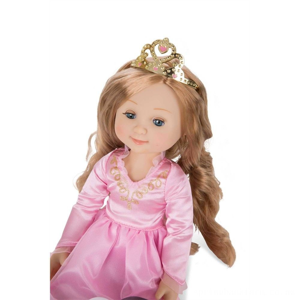 Melissa & Doug Celeste 14-Inch Poseable Princess Doll With Pink Gown and Tiara Deal
