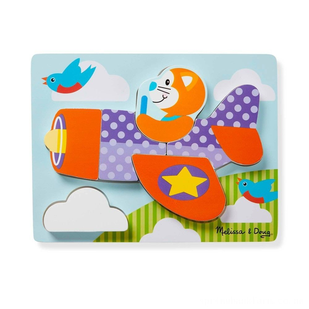 Melissa & Doug First Play 6pc Jigsaw Puzzle Set Vehicles Deal