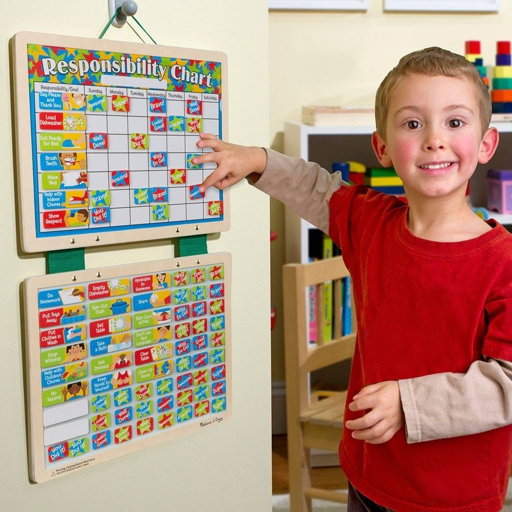 Melissa & Doug Kids' Magnetic Calendar and Responsibility Chart Set With 120+ Magnets to Track Schedules, Tasks, and Behaviors Deal