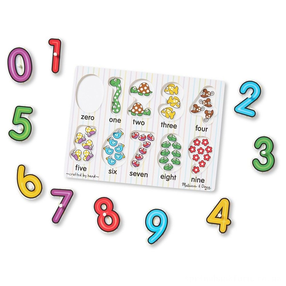 Melissa & Doug Wooden Peg Puzzles Set - Alphabet, Numbers, and Vehicles 44pc Deal
