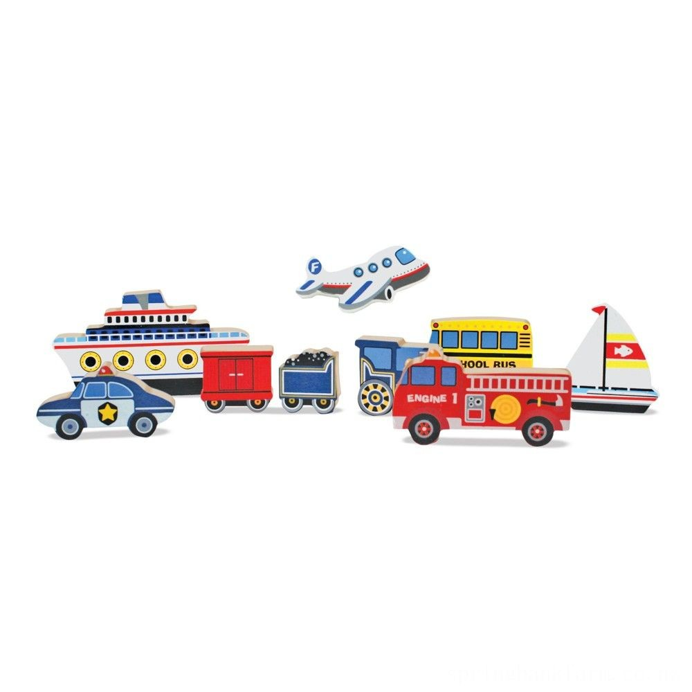 Melissa & Doug Doug Vehicles and Tools Wooden Chunky Puzzle Bundle 2pc Deal