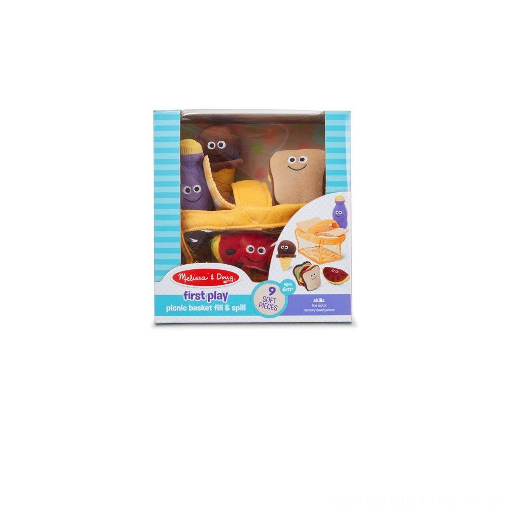Melissa & Doug Deluxe Picnic Basket Fill and Spill Soft Baby Toy Deal