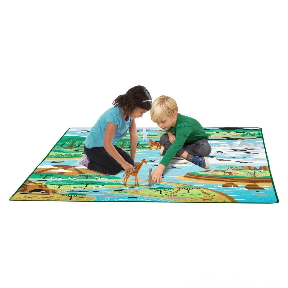 "Melissa & Doug Jumbo Habitats Activity Rug, 58 x 79"" Deal"