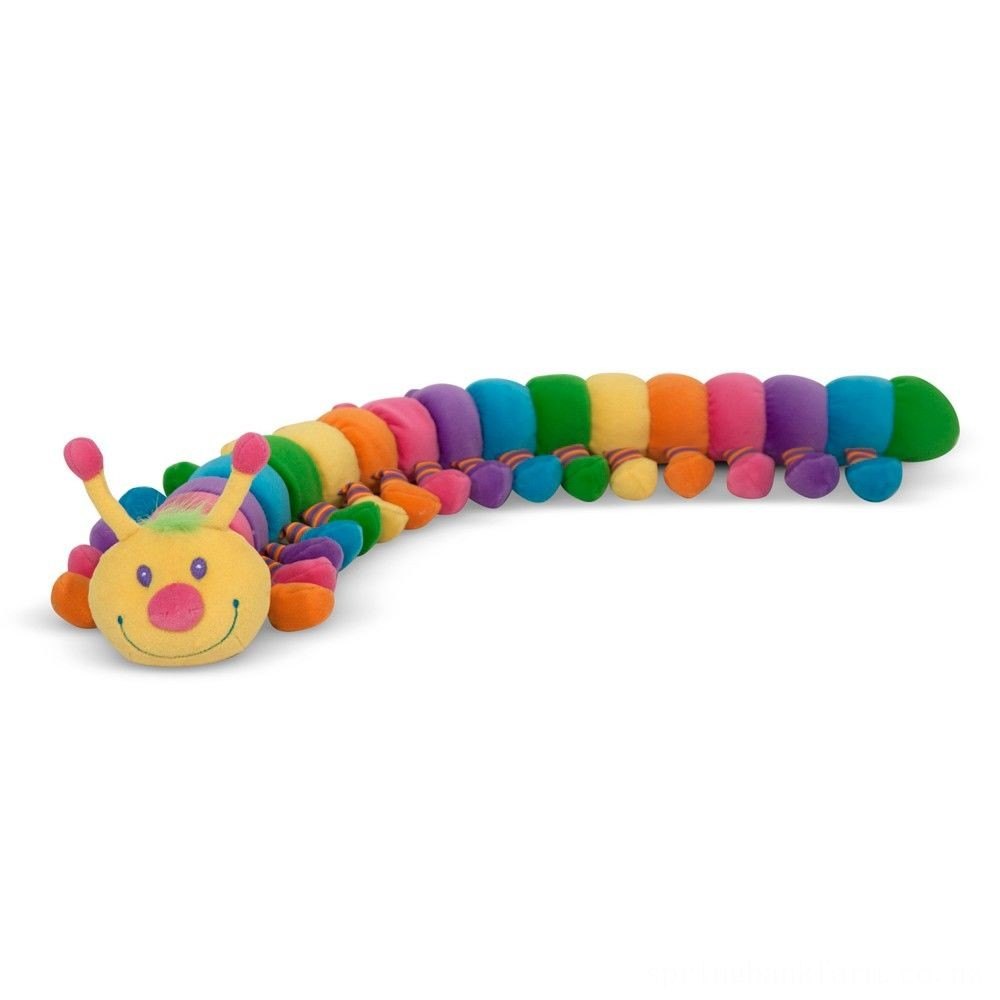 Melissa & Doug Longfellow Caterpillar - Rainbow-Colored Stuffed Animal With 32 Floppy Feet (over 2 feet long) Deal