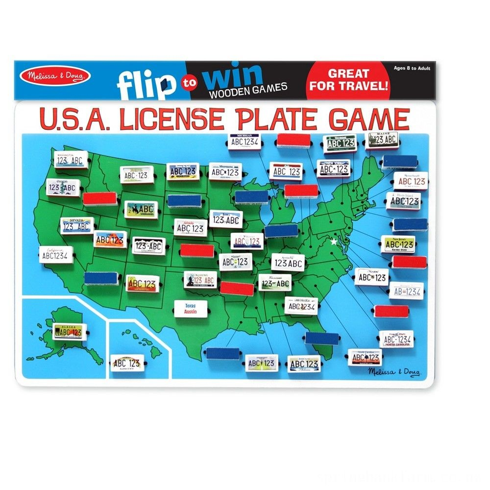 Melissa & Doug Flip to Win Travel License Plate Game, Kids Unisex Deal