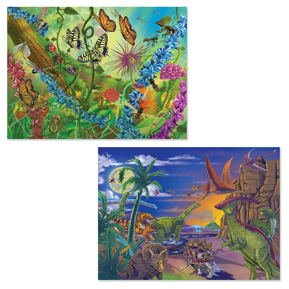 Melissa And Doug Bugs And Dinosaurs Puzzles 120pc Deal