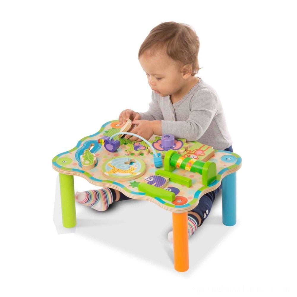 Melissa & Doug First Play Childrens Jungle Wooden Activity Table for Toddlers Deal