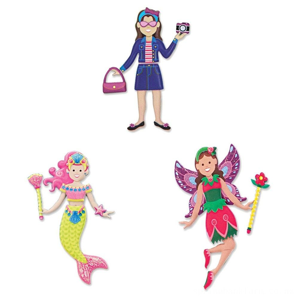 Black Friday 2020 Melissa & Doug Puffy Sticker Pads Set: Fairy, Dress-Up, and Mermaid - 216 Reusable Stickers Deal