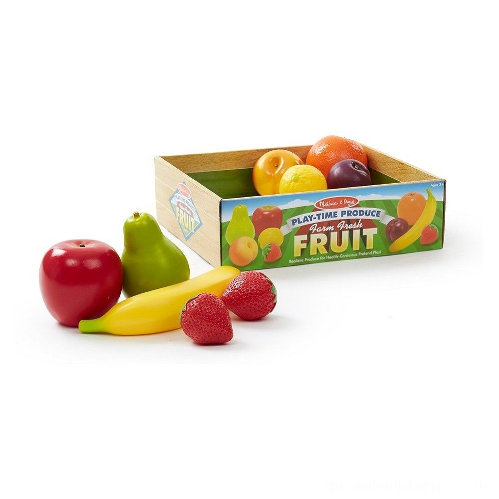 Melissa & Doug Playtime Produce Fruits Play Food Set With Crate (9pc) Deal