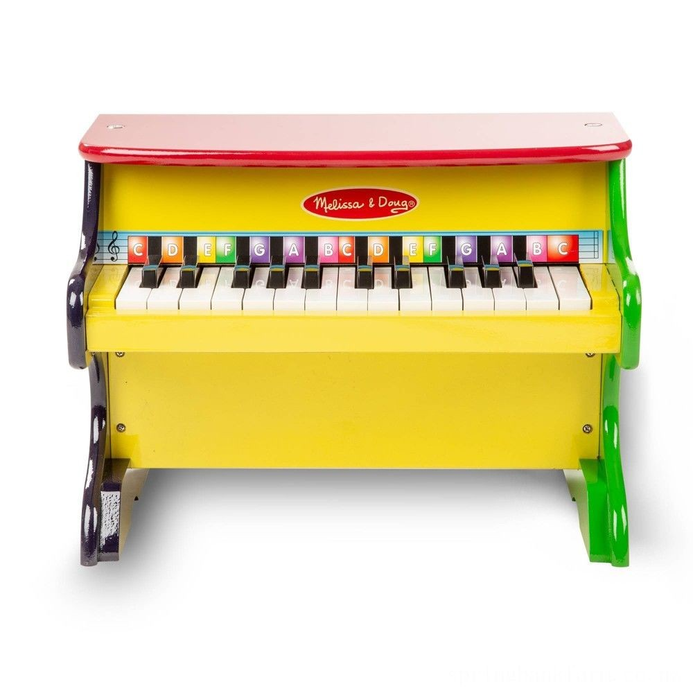 Melissa & Doug Learn-To-Play Piano With 25 Keys and Color-Coded Songbook Deal