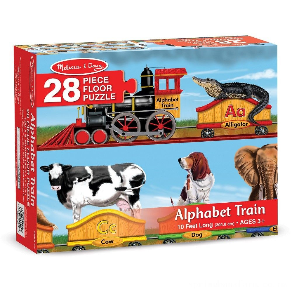 Melissa And Doug Alphabet Train Letters And Animals Jumbo Floor Puzzle 28pc Deal