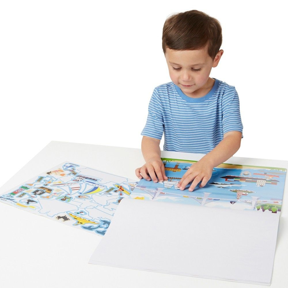 Melissa & Doug Reusable Sticker Pads Set: Vehicles and Habitats, 315+ Stickers and 10 Scenes Deal