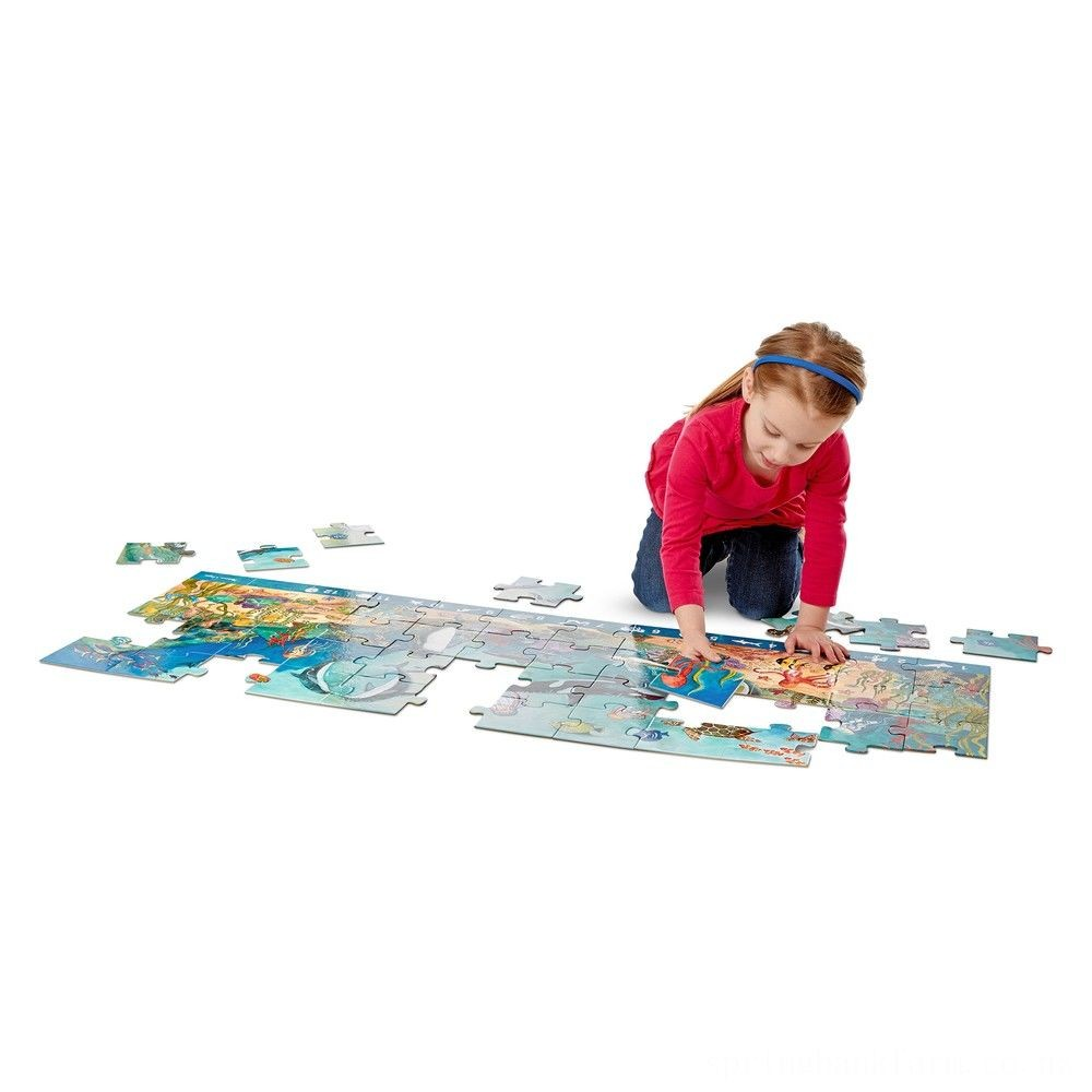 Melissa And Doug Search And Find Beneath The Waves Floor Puzzle 48pc Deal