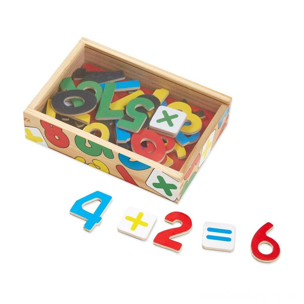 Melissa & Doug 37 Wooden Number Magnets in a Box Deal