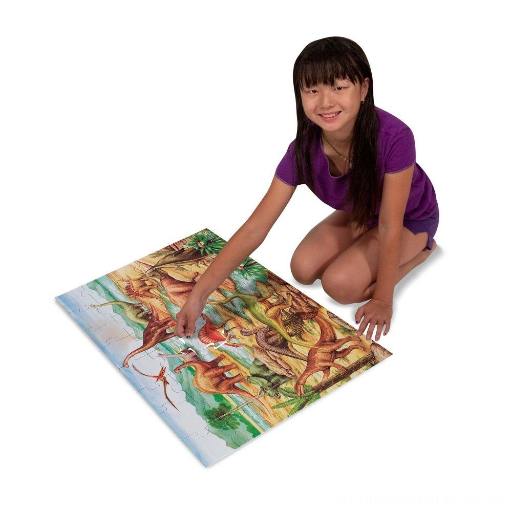 Melissa & Doug Dinosaur and T-Rex 2pk Floor Puzzle Deal