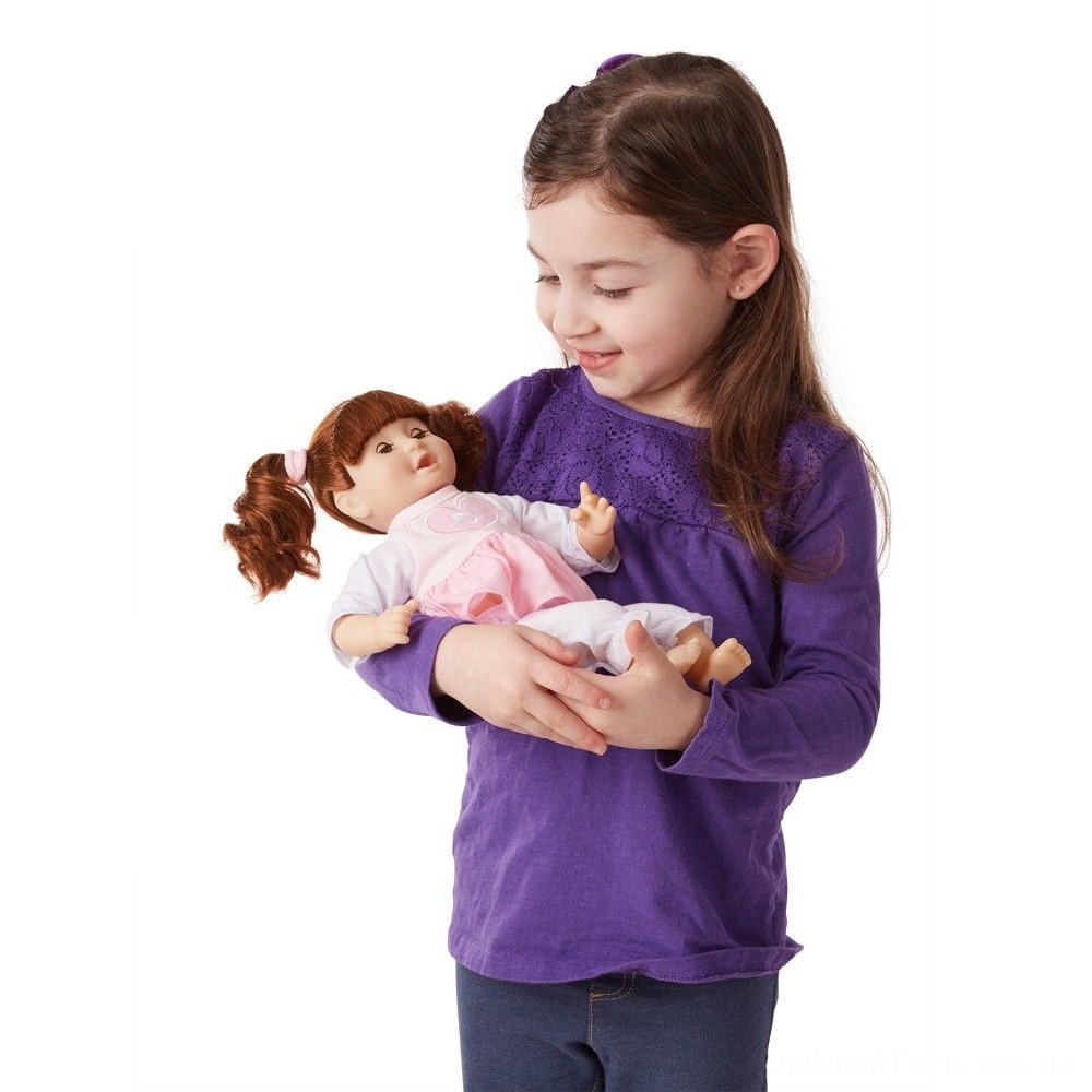 "Melissa & Doug Standard Mine to Love Brianna 12"" Soft Body Baby Doll Deal"