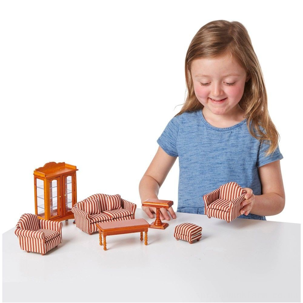 Melissa & Doug Classic Victorian Wooden and Upholstered Dollhouse Furniture (35pc) Deal