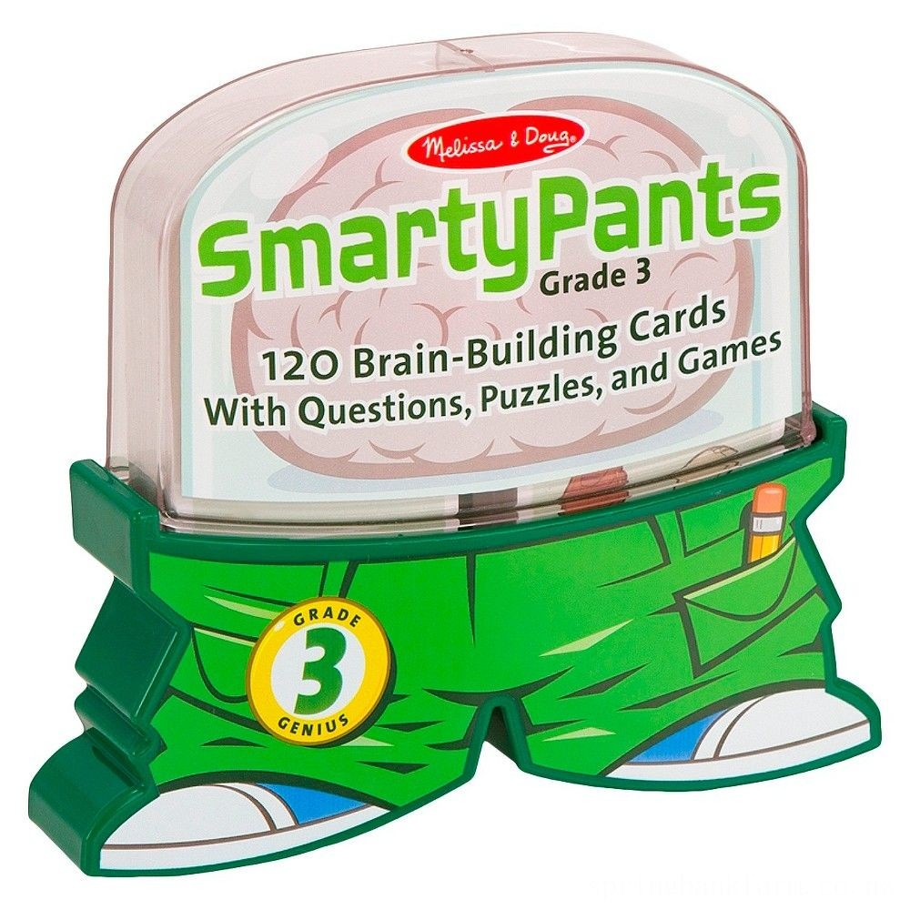 Melissa & Doug Smarty Pants 3rd Grade Card Set 120 Educational Brain-Building Questions Puzzles, and Games, Kids Unisex Deal
