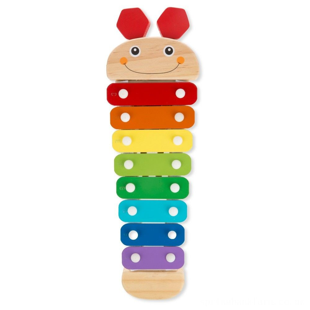 Melissa & Doug Caterpillar Xylophone Musical Toy With Wooden Mallets Deal