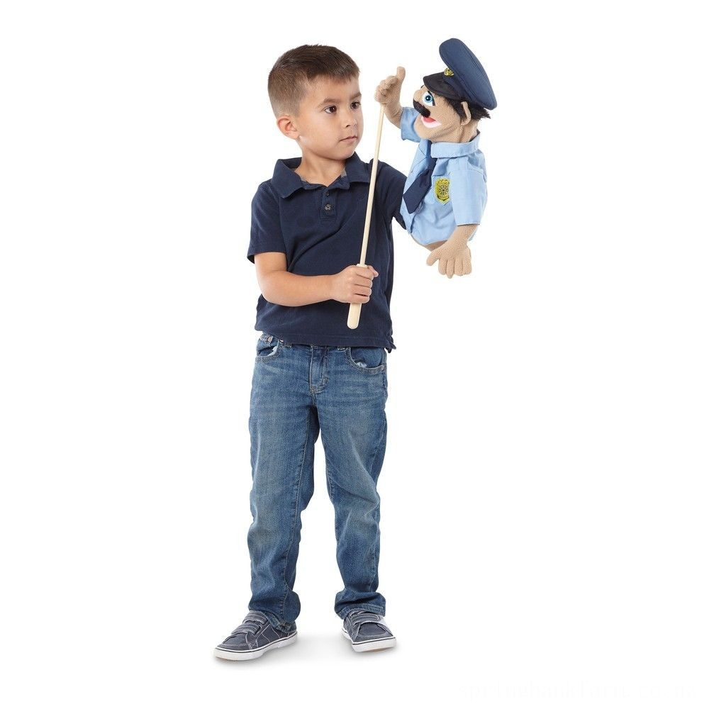 Black Friday 2020 Melissa & Doug Police Officer Puppet With Detachable Wooden Rod Deal