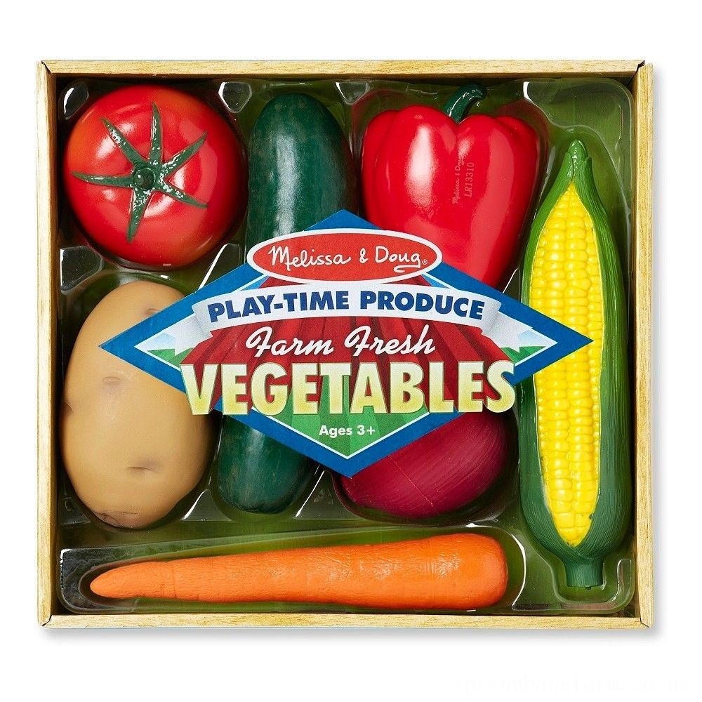 Melissa & Doug Playtime Produce Vegetables Play Food Set With Crate (7pc) Deal