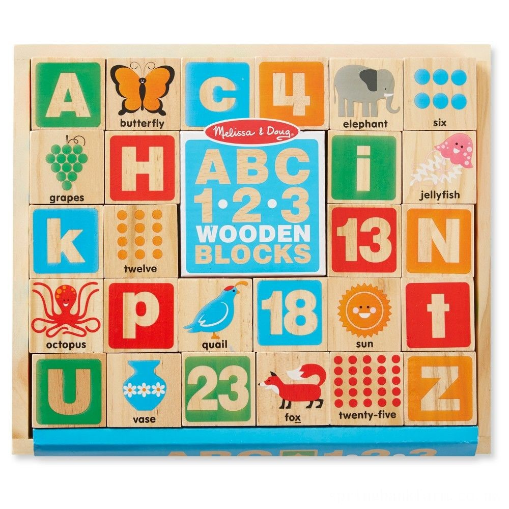 Melissa & Doug ABC/123 Wooden Blocks (26pc) Deal