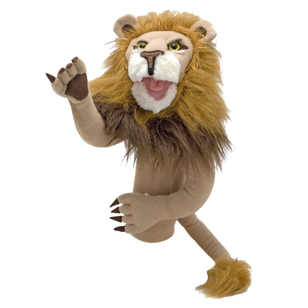 Melissa & Doug Rory the Lion Puppet With Detachable Wooden Rod for Animated Gestures Deal