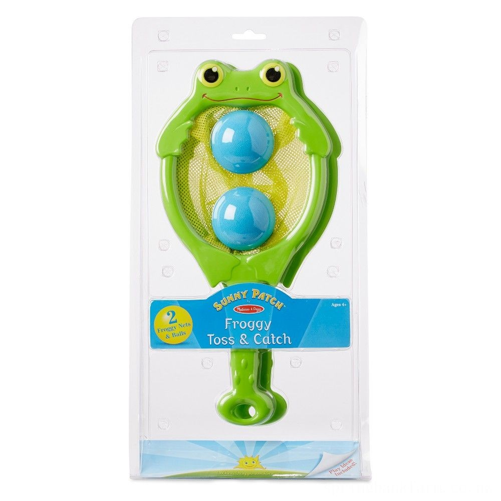 Melissa & Doug Sunny Patch Froggy Toss and Catch Net Game With 2 Balls Deal